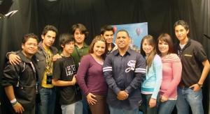 Equipo Video'online Casa de Dios junto a Rudy Gracia